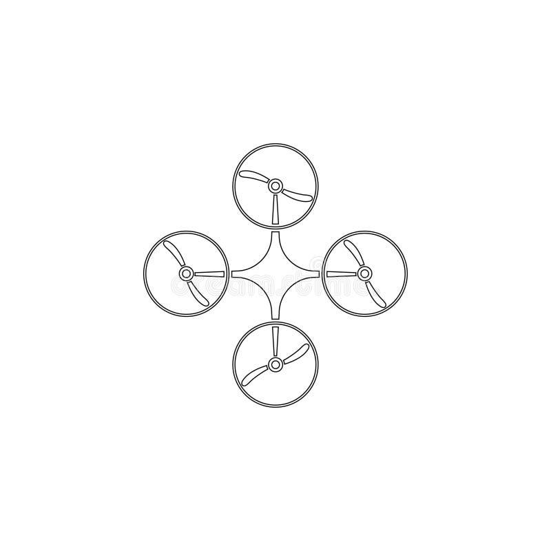 Drone. flat vector icon stock illustration