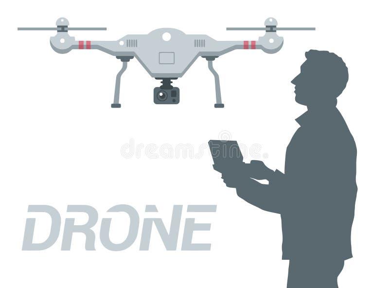 Drone 2 royalty free illustration