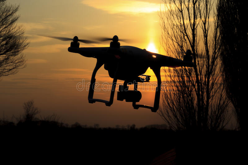 Drone flies and removes fields that dotted the landscape of agriculture stock photos