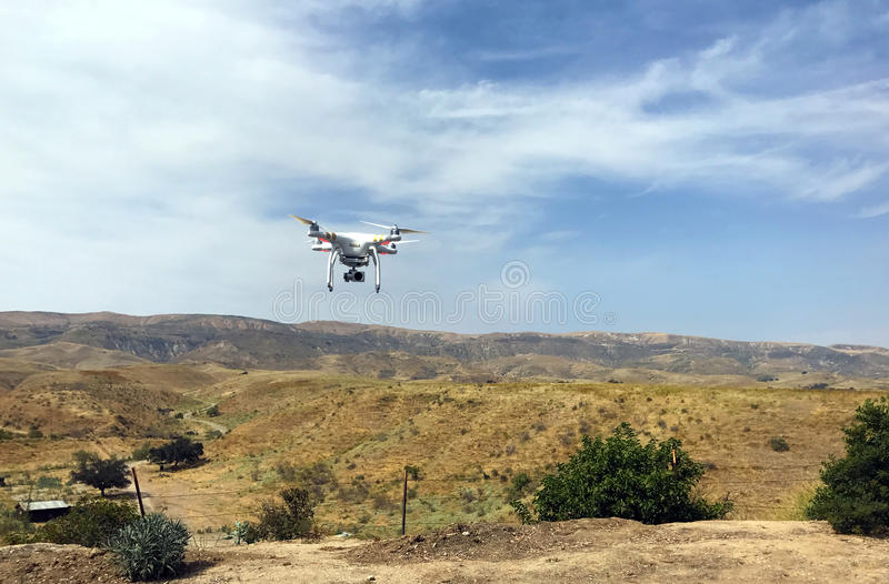Drone in Flight stock photography