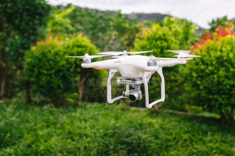 Drone in flight. royalty free stock images