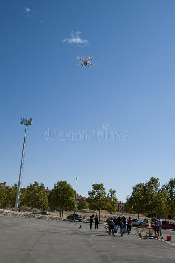 Drone in flight stock images
