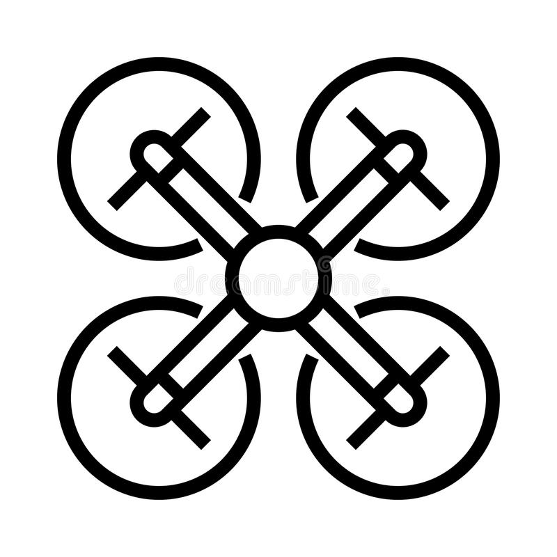 Drone fly icon vector illustration