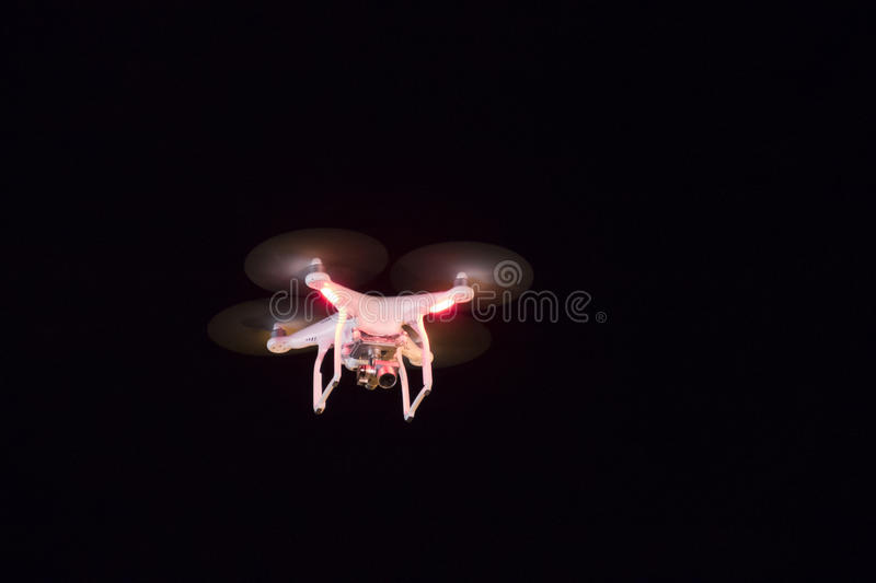 Download Drone Flying At Night Stock Photo Image Of Modern Aerial