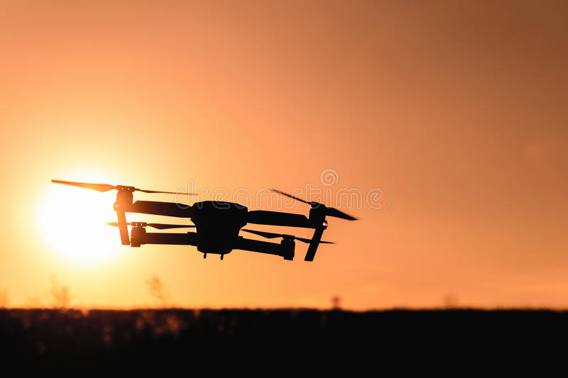 Drone Flying At Sunset Free Public Domain Cc Image