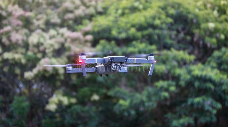 Drone flying view from the side royalty free stock photo