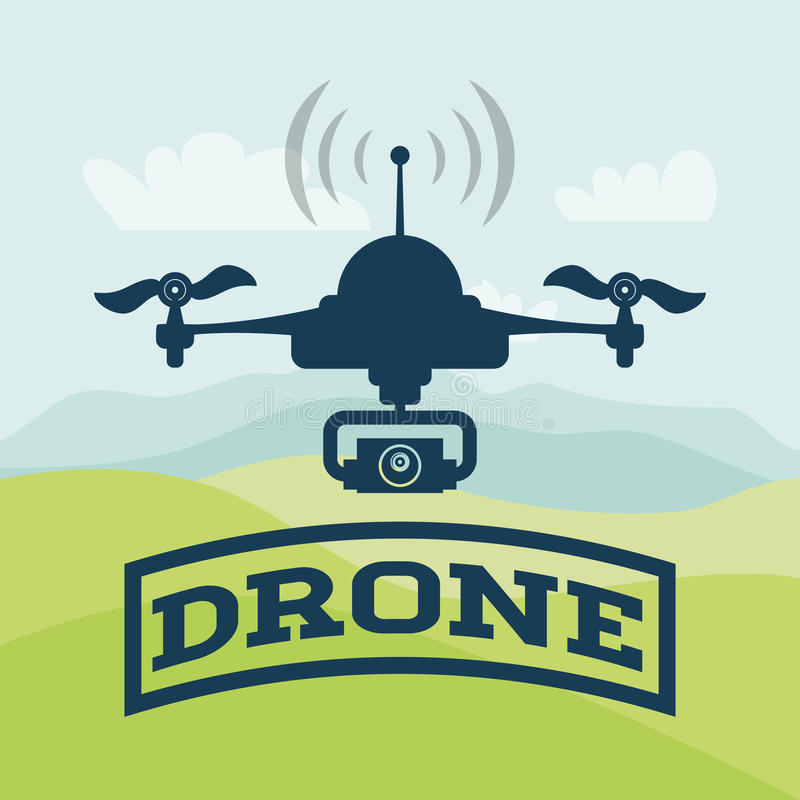 Drone icon design royalty free illustration