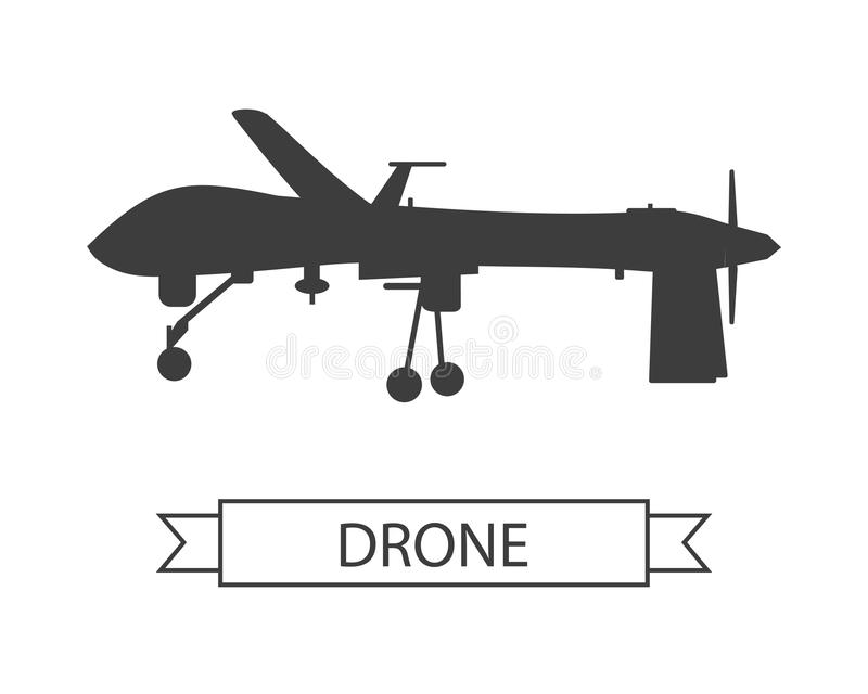Drone Icon Isolated Unmanned Aerial Vehicle royalty free illustration