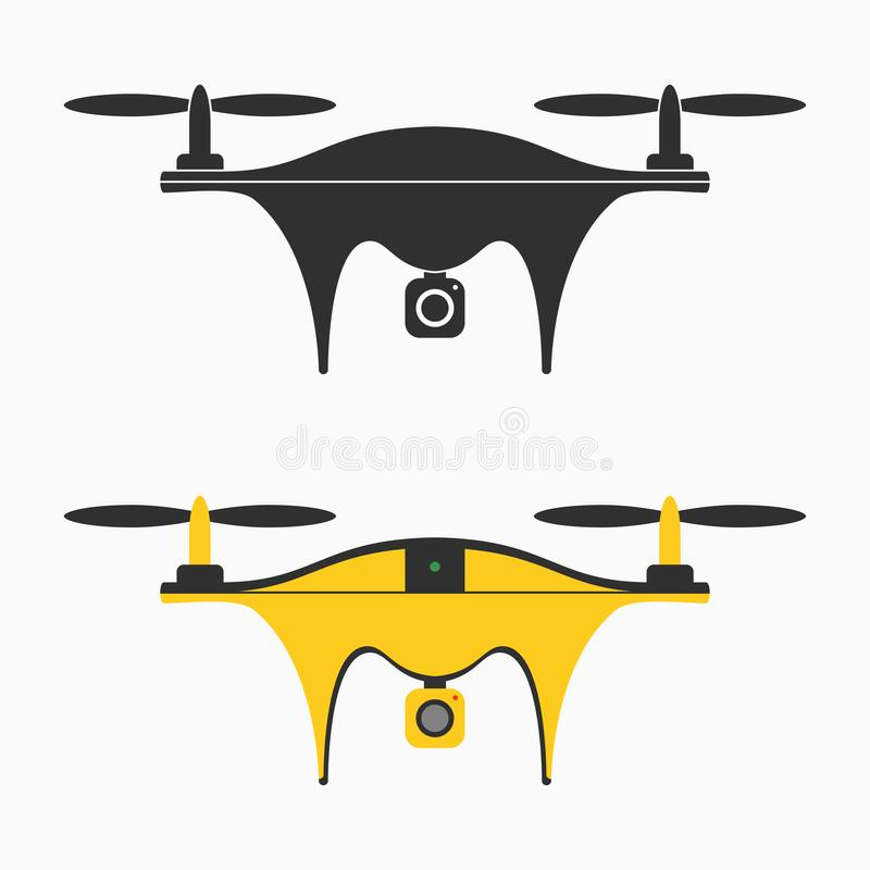 Download Drone Icon Set Of Quadcopter With Camera For Photography Or Video Recording Vector
