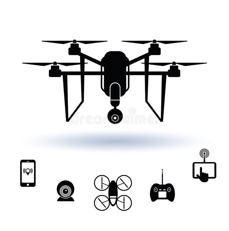 Drone icon set, Vector. Drone icon set, Vector illustration