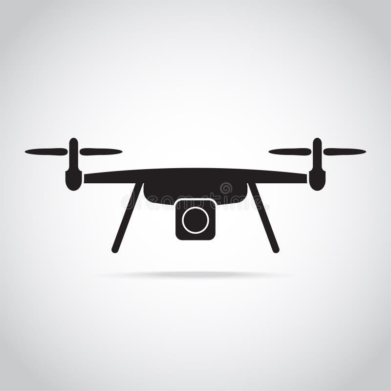 Drone, ikona lotu z czterema kopiami ilustracji
