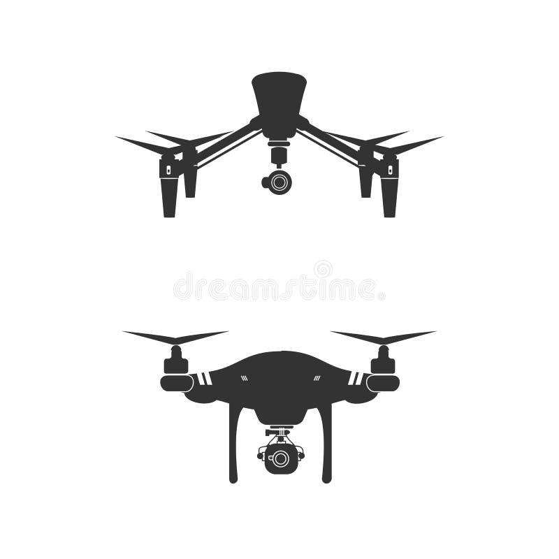Drone Logo Design Icon Technology Camera Vector royalty free illustration
