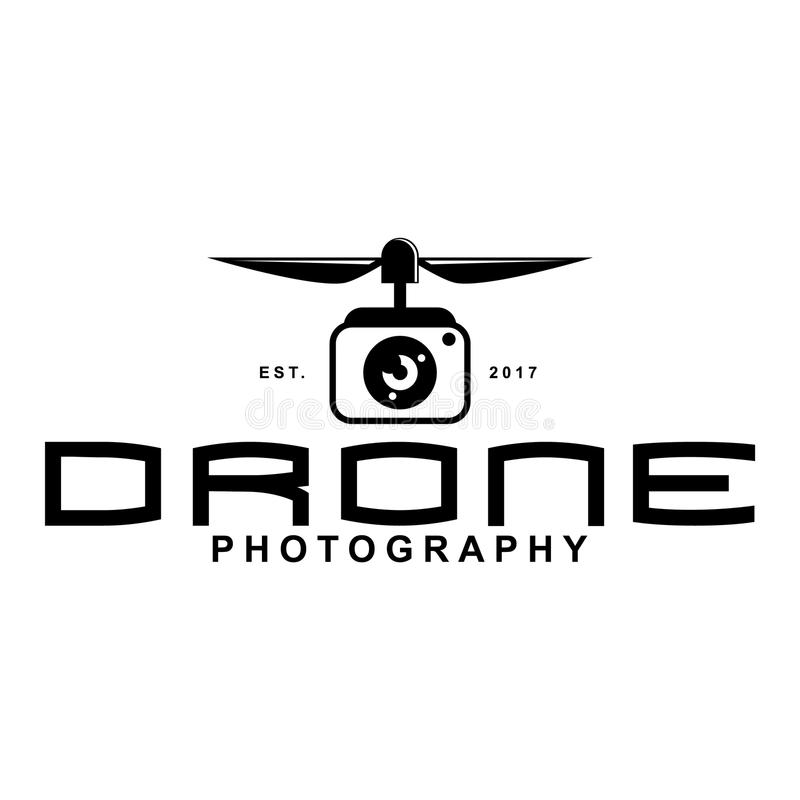 Drone logo. Photography logo, flat design illustration