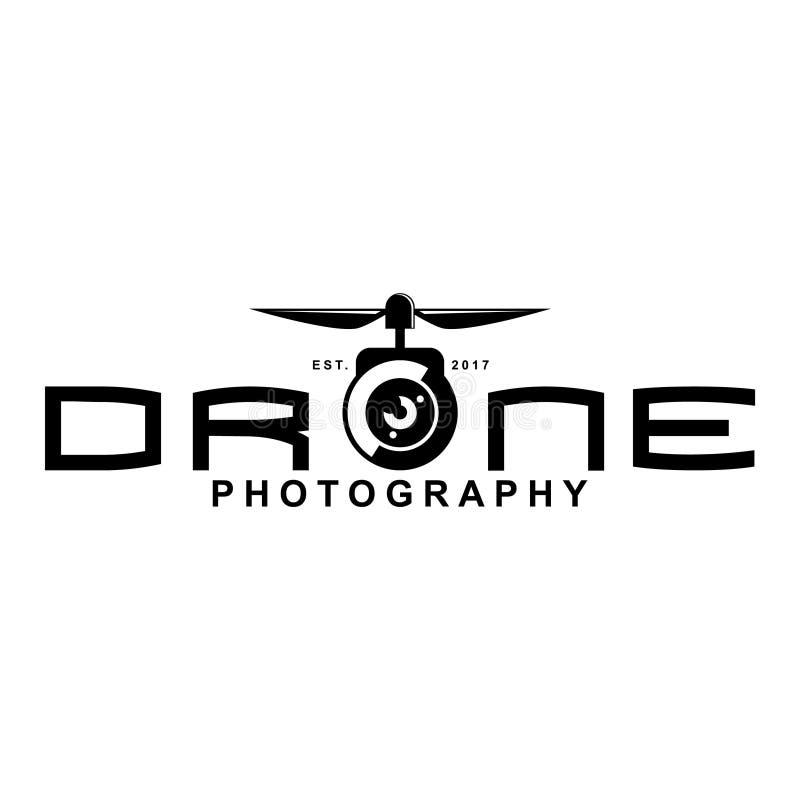 Drone logo vector illustration