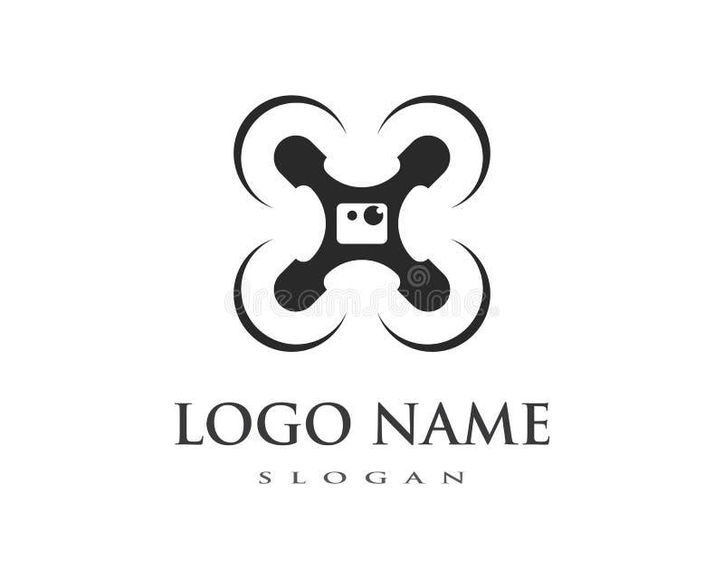 Drone logo vector. Template vector illustration