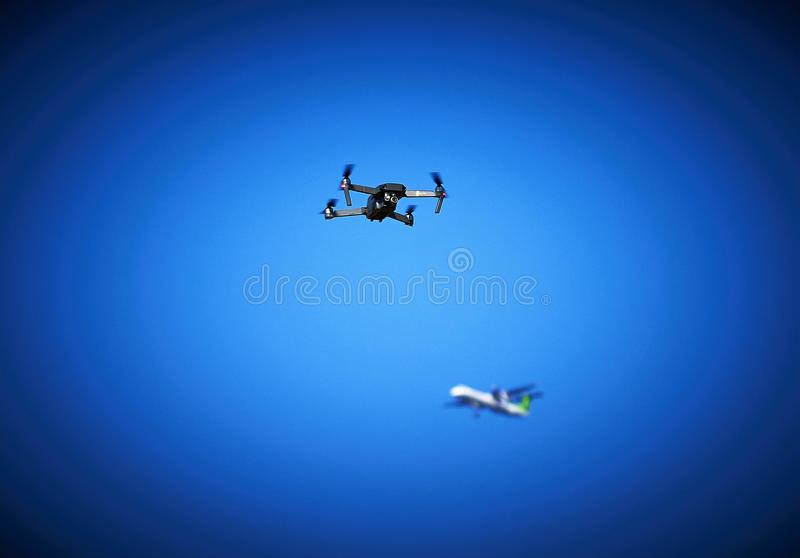 Drone In A No-fly Zone royalty free stock photos