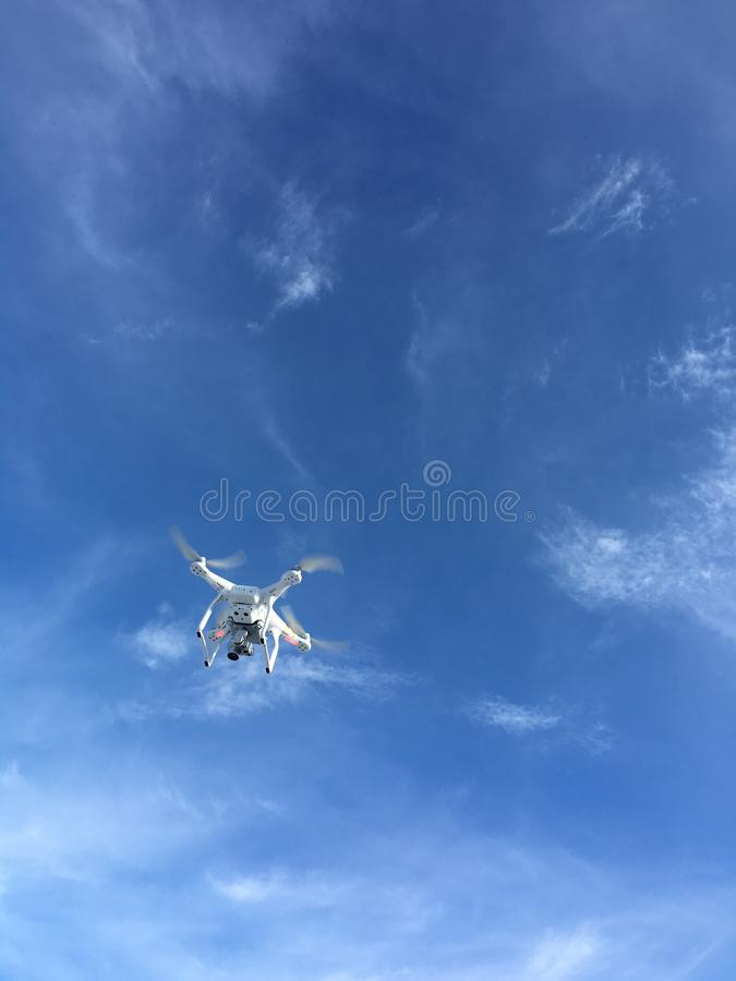 Free Drone On Blue Sky Day Royalty Free Stock Image - 62224646
