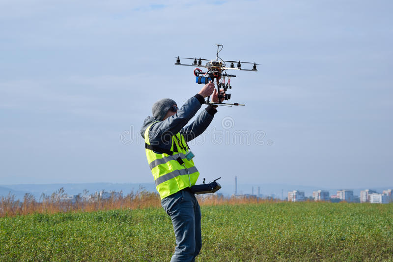 Drone operator royalty free stock images