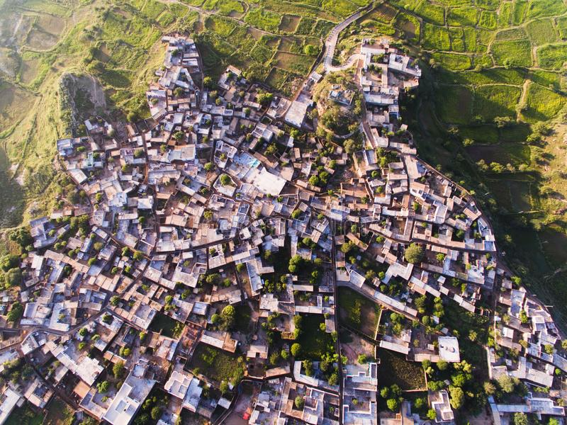 Ariel view of civilization. Drone phantom4 dji above overview ariel view civilization village life population growing house houses rural urban royalty free stock image