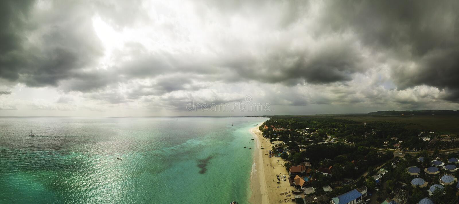 Drone photograph of Jamaica stock image