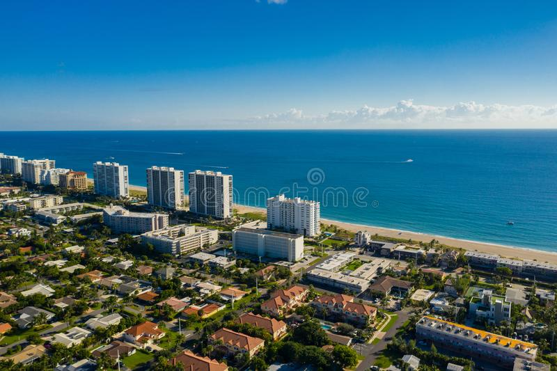 Drone photography real estate Deerfield Beach Florida USA royalty free stock image