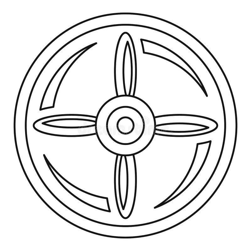 label icon with a propeller stock illustration. Black Bedroom Furniture Sets. Home Design Ideas