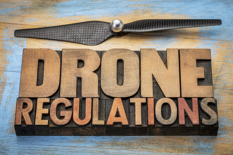 Drone regulations word abstract royalty free stock photos