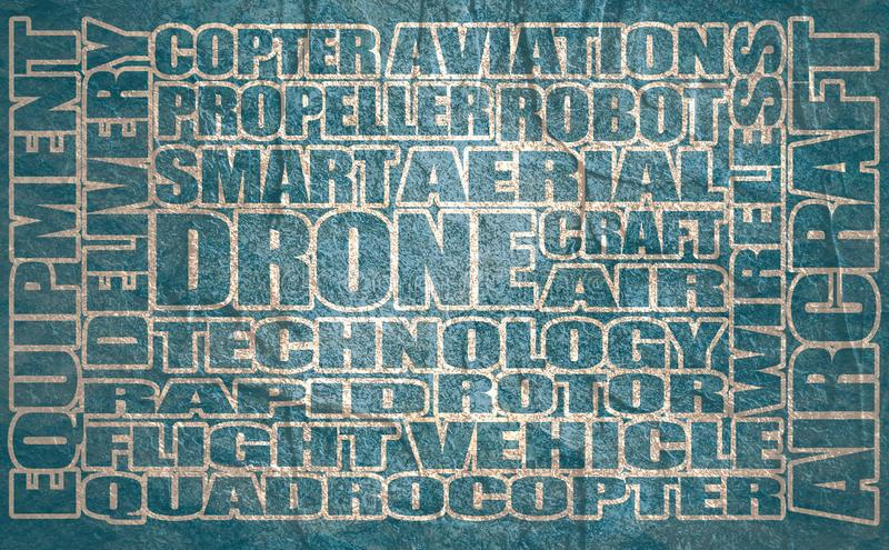 Drone relative word cloud royalty free stock image
