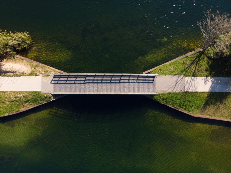 Drone shot of a lake in the netherlands royalty free stock photography