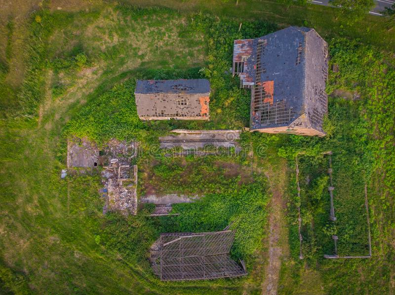 Drone shot in the netherlands. royalty free stock images
