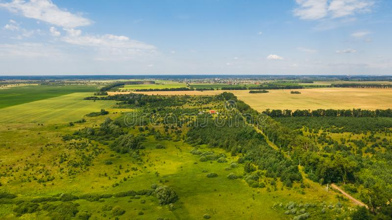 Drone shot of Ukrainian landscape. Natural background on a sunny day. Beautiful drone shot of Ukrainian landscape. Natural background on a sunny day. Photo of royalty free stock photography
