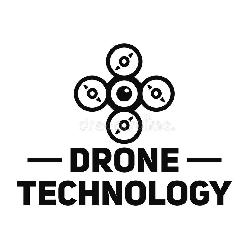 Drone site logo, simple style. Drone site logo. Simple illustration of drone site vector logo for web design isolated on white background stock illustration