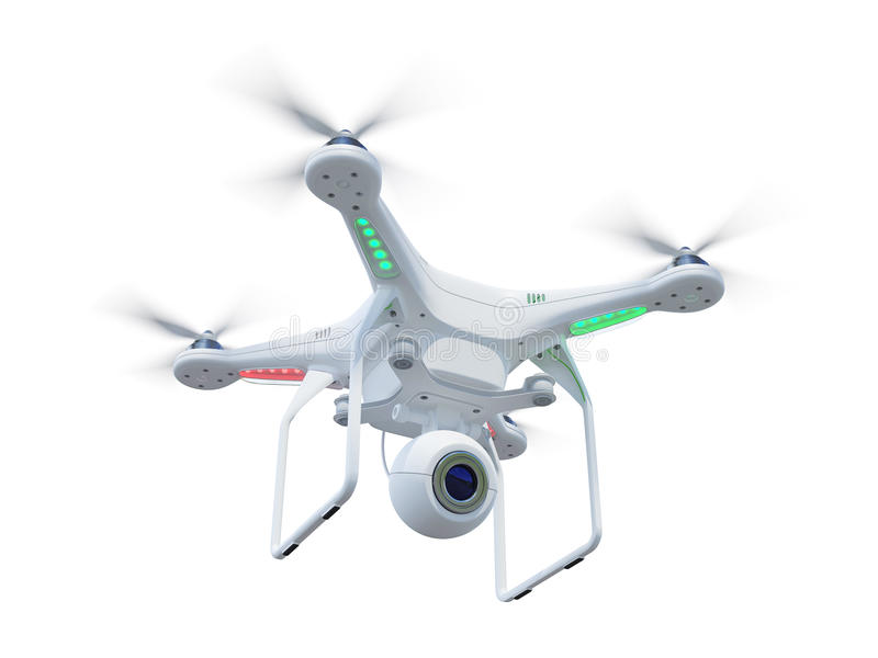 Drone in sky royalty free illustration