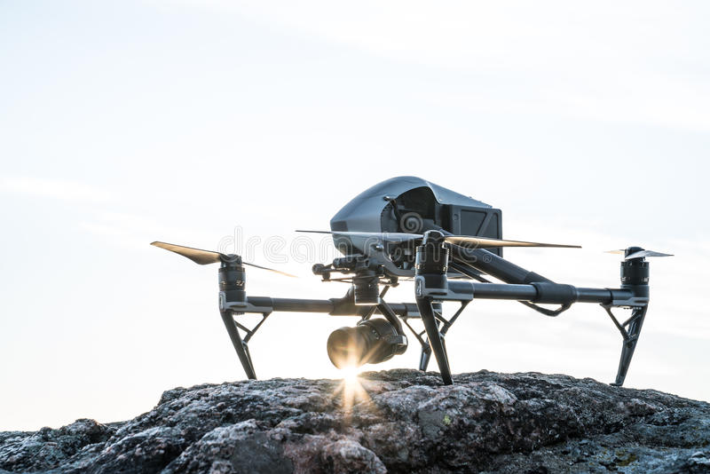 Drone Sunset royalty free stock photo