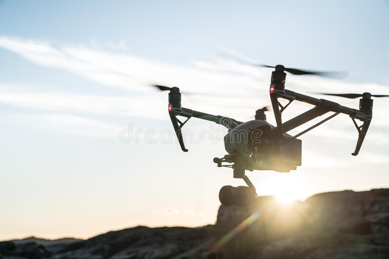 Drone Sunset royalty free stock image