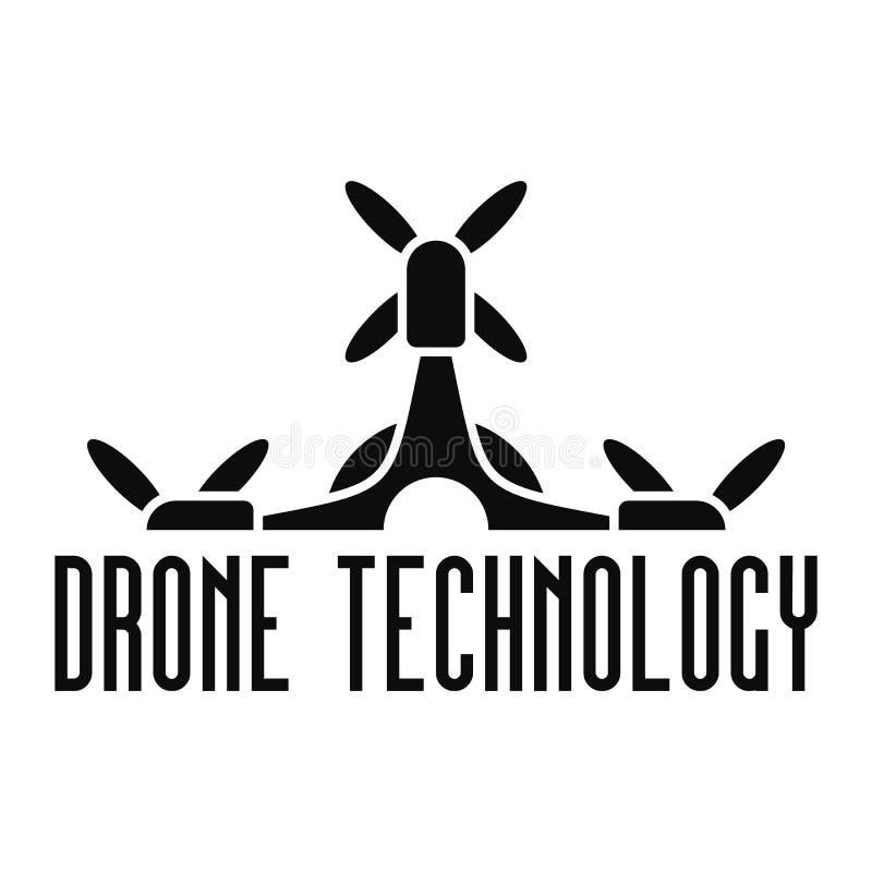 Drone tech logo, simple style stock illustration