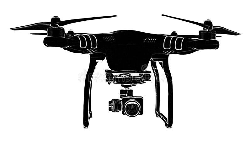 Drone transparent eps logo file royalty free stock photos