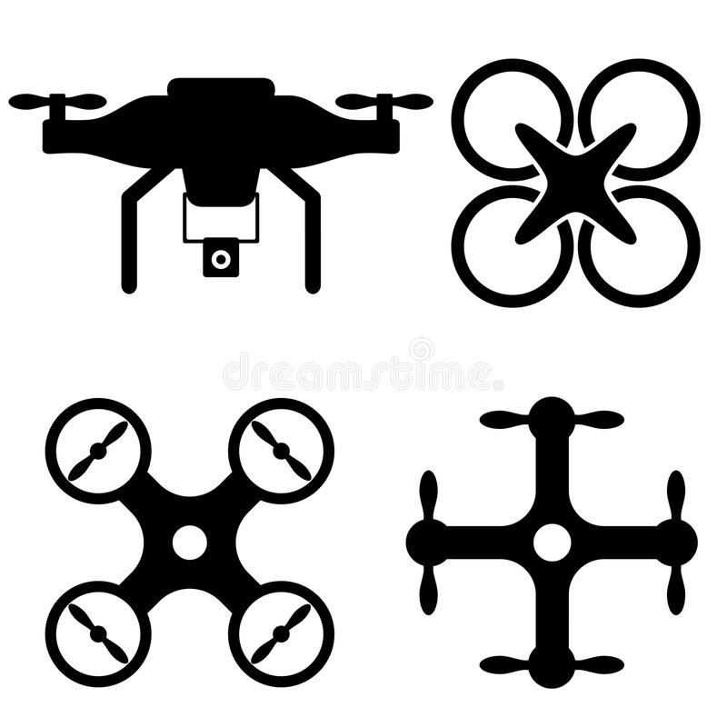 Line Drawings From D Models : Drone and uav icons stock vector illustration of