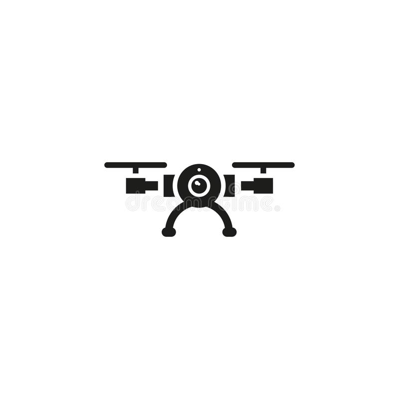 Drone vector icon. On white background stock illustration