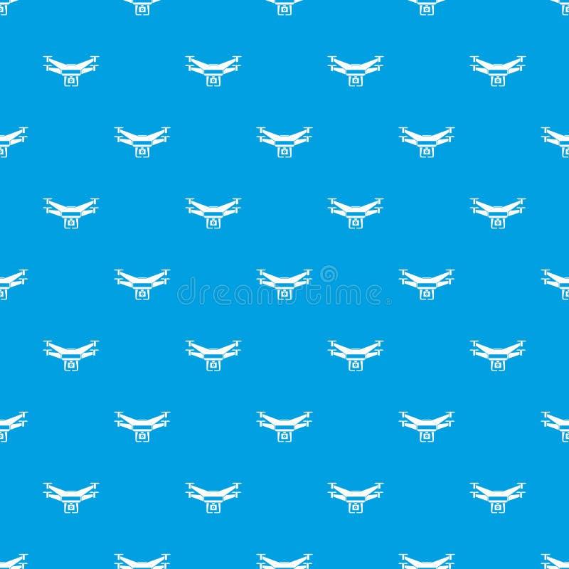 Drone video camera pattern seamless blue stock illustration
