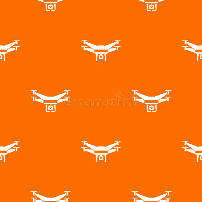 Drone video camera pattern seamless stock illustration