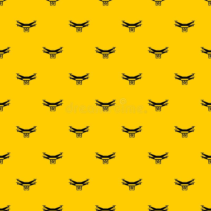 Drone video camera pattern vector royalty free illustration