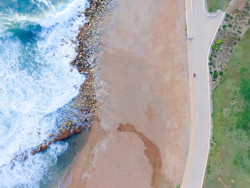 Drone view of the beach royalty free stock image