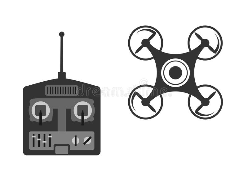 Drone. On a white background vector illustration