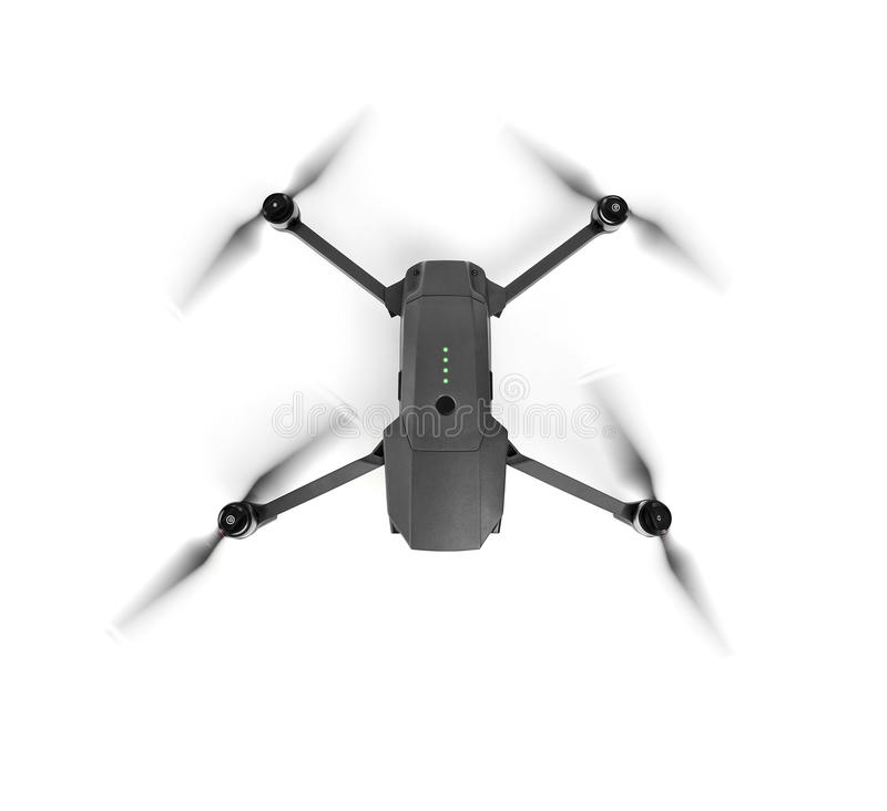 Drone on white background. One of the most portable drones royalty free stock photography