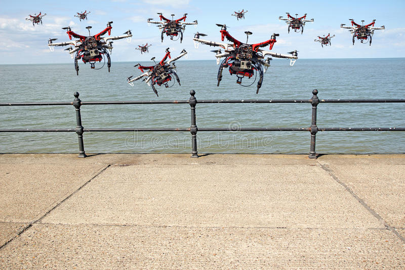 Drone on the wind royalty free stock images