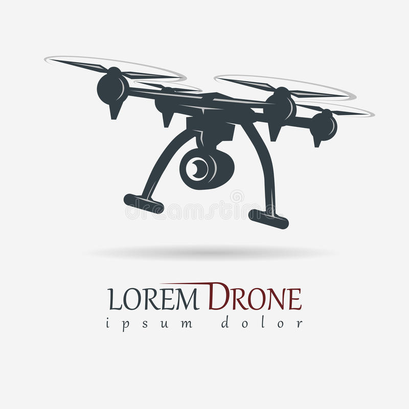 Free Drone With Action Camera, Quadrocopter Vector Royalty Free Stock Images - 96029849