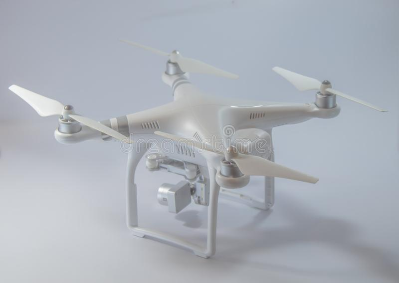 Drones for mobile photography and video. Drones for mobile photography and video on white background stock images