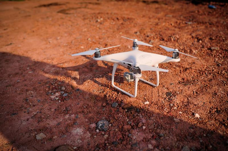 Drones Photo Miniature Aviation photography for entertainment royalty free stock photography