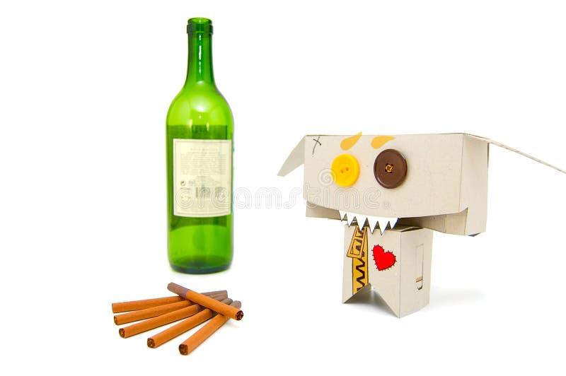 Dronken grappige roker stock fotografie